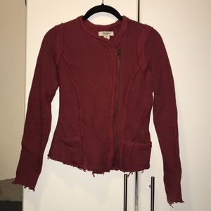 Red Lucky Brand Distressed Jacket